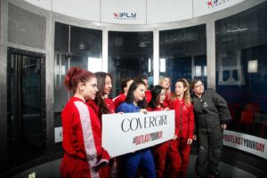 Group Shot - Covergirl #OutlastYourDay Skydiving 2