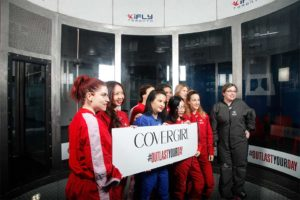 Group Shot - Covergirl #OutlastYourDay Skydiving